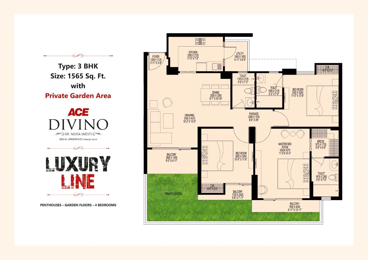 Luxury Line 1565 SQ.FT.