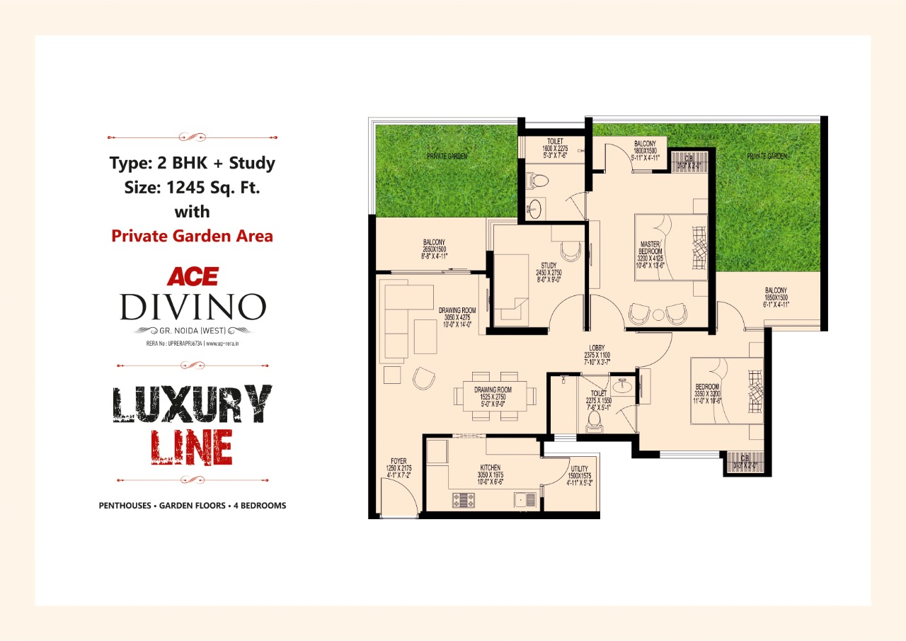 Luxury Line 1245 SQ.FT.