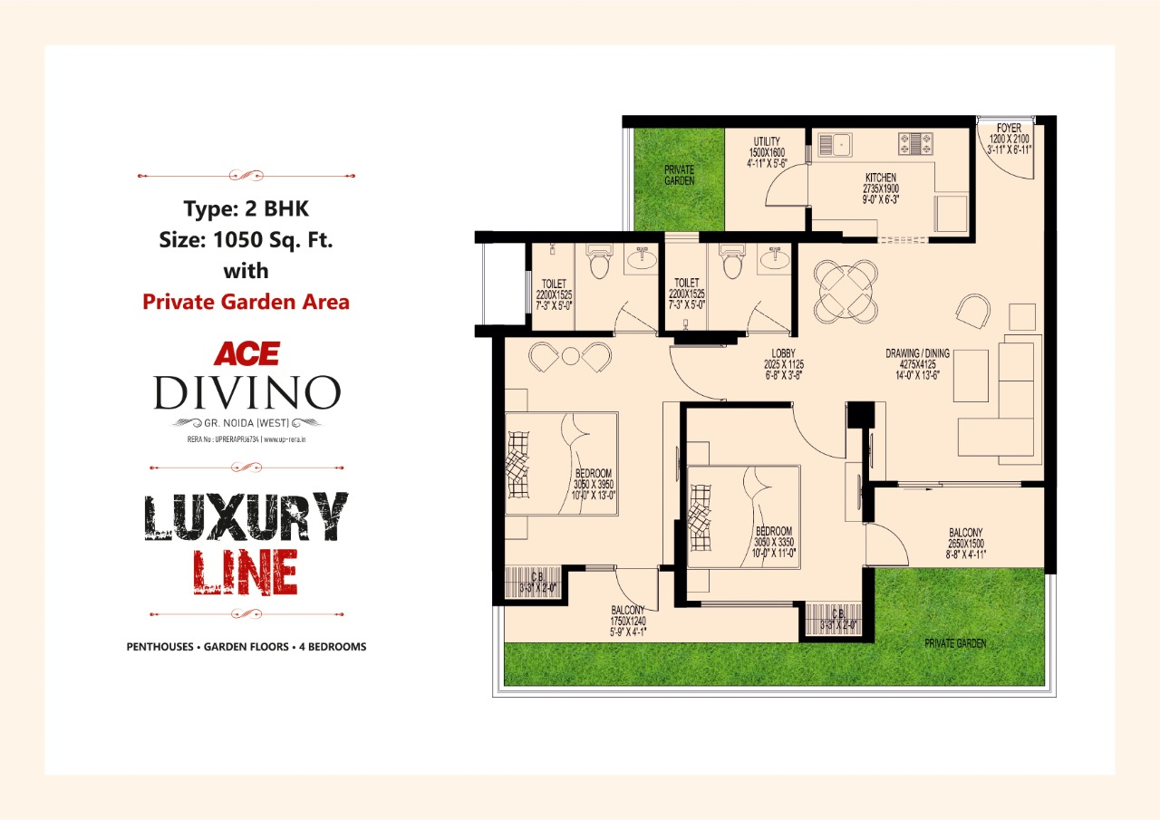 Luxury Line 1050 SQ.FT.